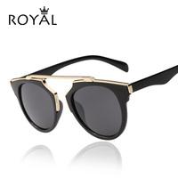 Alta qualità delle donne del progettista di marca occhiali da sole rotondi a specchio shades cat eye glasses ss206