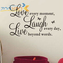 love laugh  live quote wall decal zooyoo1002 decorative adesivo de parede removable vinyl wall sticker