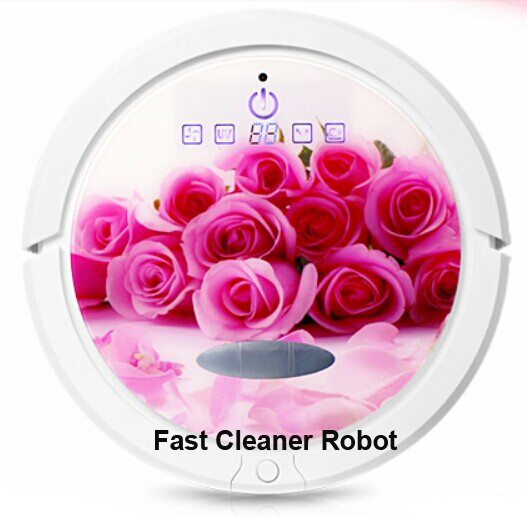 (Video Online Available) New Coming Super Powerful Suction Robot Vacuum Cleaner QQ6 with New Design(Creative Cover),Turning Mop(China (Mainland))