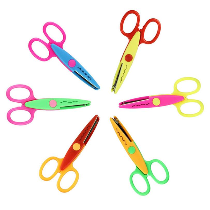 Гаджет  Best seller DIY Photo Album Handmade 6 Pattern Kids Scissor for Wave Stamps Decorative None Офисные и Школьные принадлежности