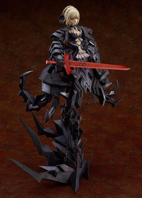 31cm Japanese anime determine black Destiny Keep Evening Saber Alter huke motion determine collectible mannequin toys for boys P572