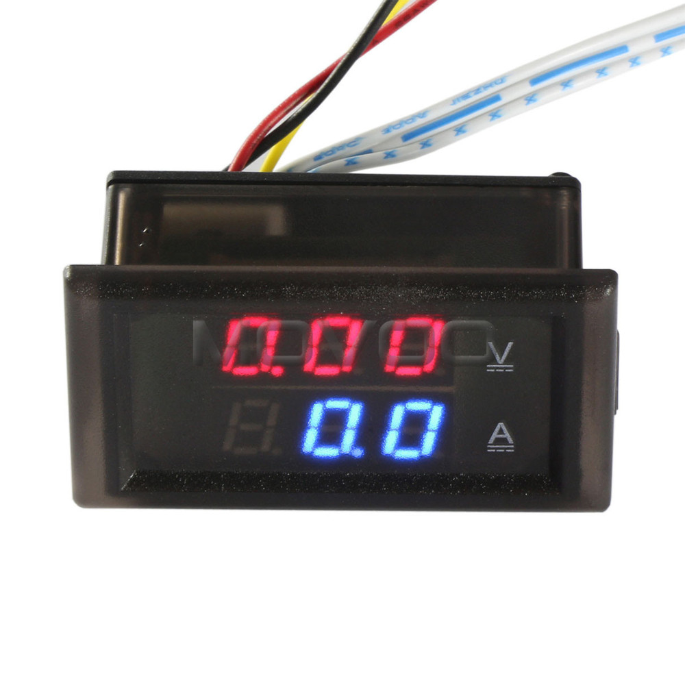 ampere meter voltage meter dc 0 100v 200a digital. Black Bedroom Furniture Sets. Home Design Ideas