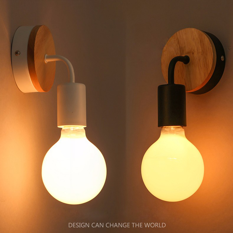 Modern wall lamps sconces living room wooden restaurant for Modern wall sconces for living room