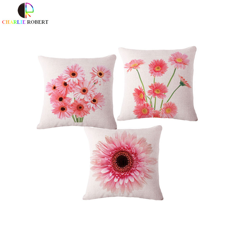 Lovely Floral Home Decorative Pillows With No Core Inside Cushion for Chair Sofa Pillowcase dog cat Pad housse de coussin Cojin(China (Mainland))