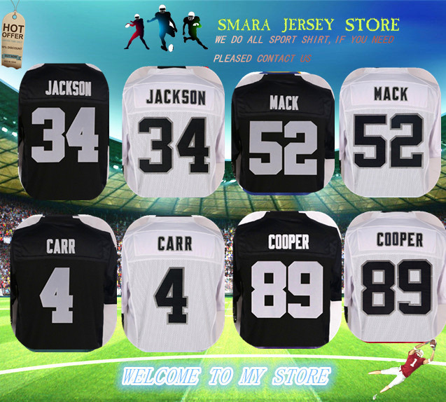 2016 NEW Men's Authentic 89 Amari Cooper jersey 4 Derek Carr 52 Khalil Mack 34 bo jackson stitched elite jersey(China (Mainland))