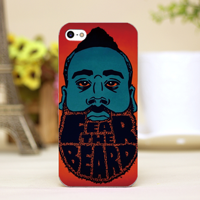 pz0108-75 nba James Harden carttoon pop art Design phone transparent cover cases for iphone 4 5 5c 5s 6 6plus Hard Shell(China (Mainland))