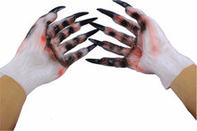 Cosplay Halloween props demon ghost ghost gloves gloves latex dress masquerade adult male and female hands(China (Mainland))