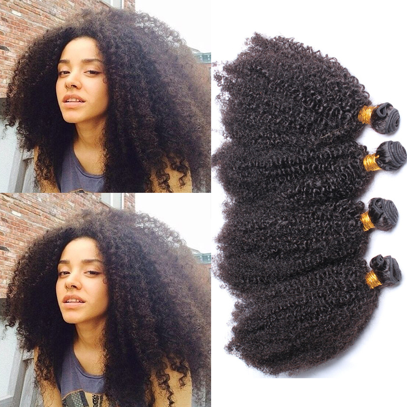 SunnyQueen hair products afro kinky curly natural black hair Brazilian afro kinky curly 5PCS Brazilian tight curl 5A Grade