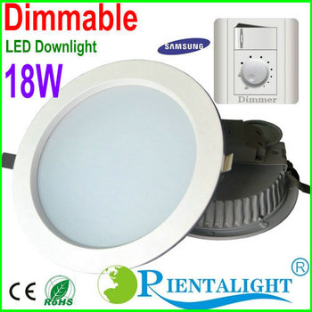 Dimmable 18W Led Down Light High Power Cool/Pure/Warm White Led Fixture Ceiling Downlight Lamp AC110V-120V/220-240V,3Y Warranty
