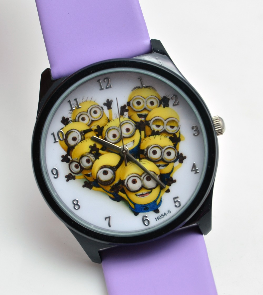 Rubber silicone jelly cartoon children watch precious milk dad patted watch despicable me 2 for Despicable watches