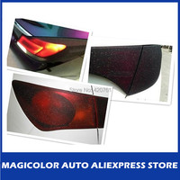 12 Colors 30cm x120cm Auto Car Glitter  Headlight Vinyl Film For Car Lights Color Change
