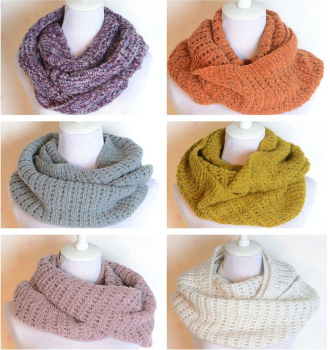 korean style mohair knitted infinity circle loose thicken women ring tube scarf/ scarves - JW fashion factory store