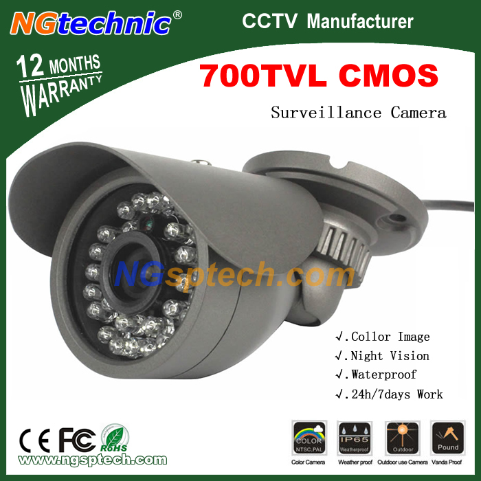 Free Shipping! 700TVL Home Security Surveillance With 30 Pcs IR LED Night Vision Indoor/outdoor Waterproof Security CCTV Camera(China (Mainland))