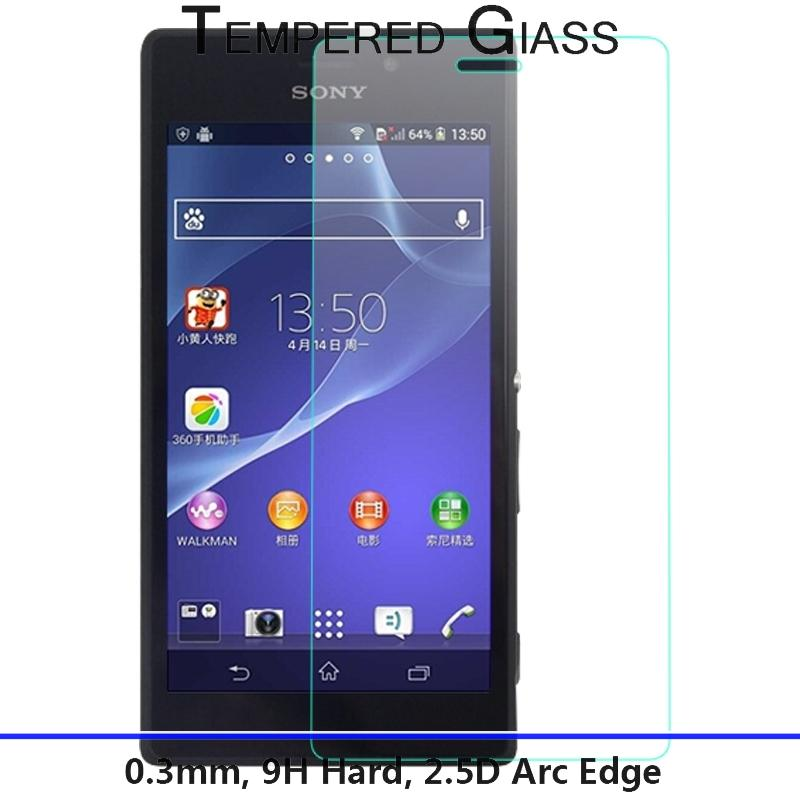 9H 2 5D Nanometer for Sony Xperia M2 M2 Aqua D2403 D2406 D2303 D2305 D2306 Tempered
