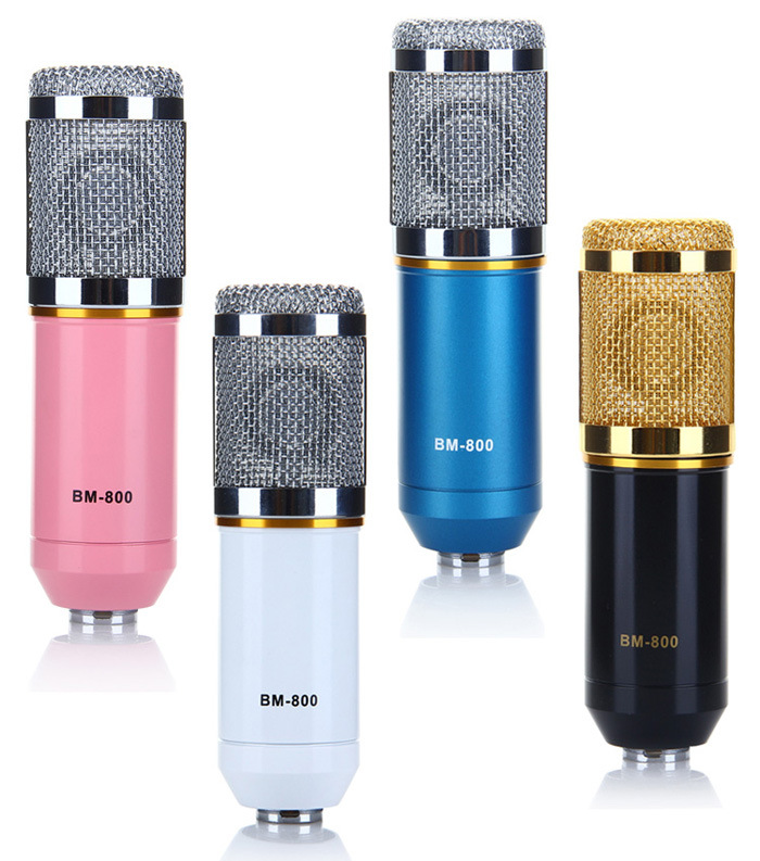 Professional BM800 Condenser Microphone Cardioid Audio Studio Vocal Record Mic with Metal Shock Mount for PC KTV Studio Room<br><br>Aliexpress