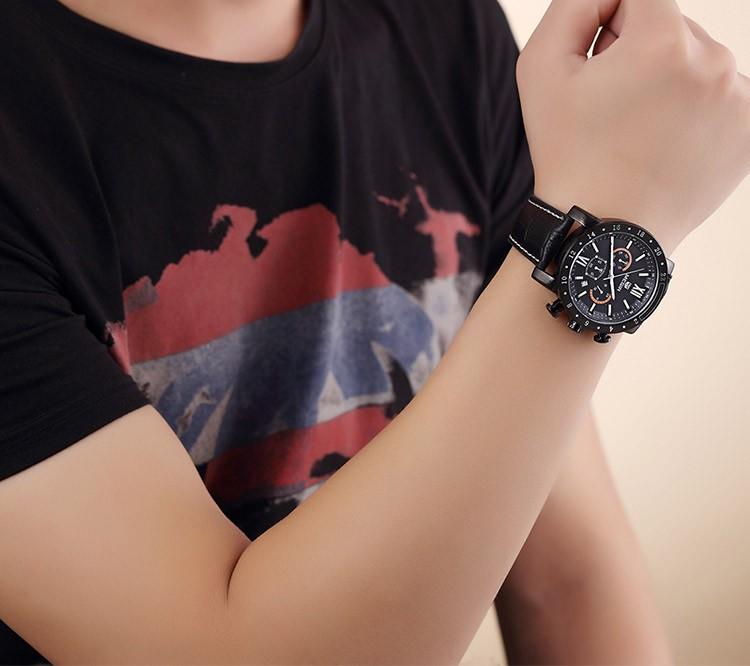 Megir 3008 мода кварцевые часы мужчин водонепроницаемые наручные часы люксовый бренд ремень из натуральной кожи военные часы бесплатная доставка