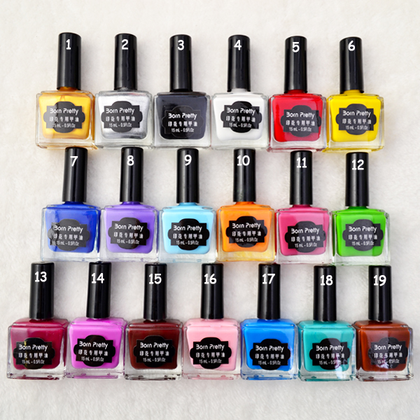 1PC 15ml Nail Polish Colorful Nail Stamping Polish Born Pretty Branded Nail Polish 19 Colors <font><b>Nailpolish</b></font> Nail Lacquer19# # 22179