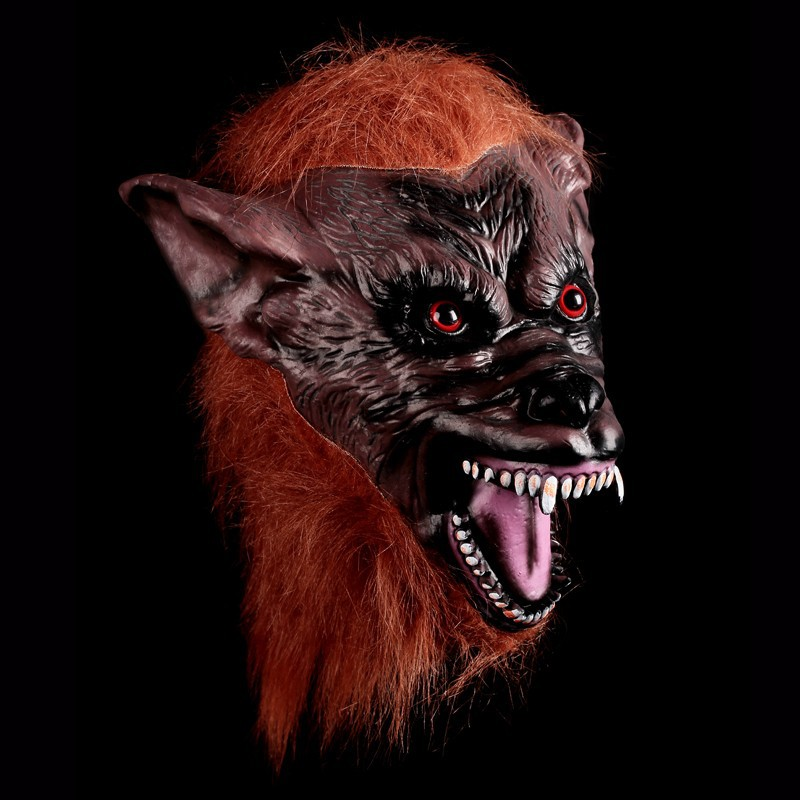 Wolf Head Devils Latex Scary Mask Gloves Halloween Mascara Terror Cosplay Props Party Masquerade Costume Carnival Masks