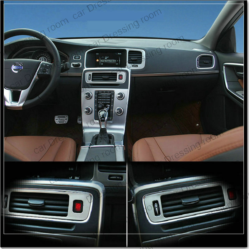 car styling air conditioning vent decorative cover trim interior stainless steel strip air. Black Bedroom Furniture Sets. Home Design Ideas