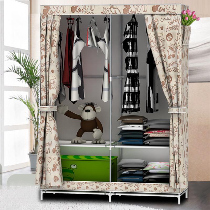 Simple wardrobe non-woven folding cloth wardrobe reinforcement combination of IKEA 3D pattern large wardrobe closet(China (Mainland))