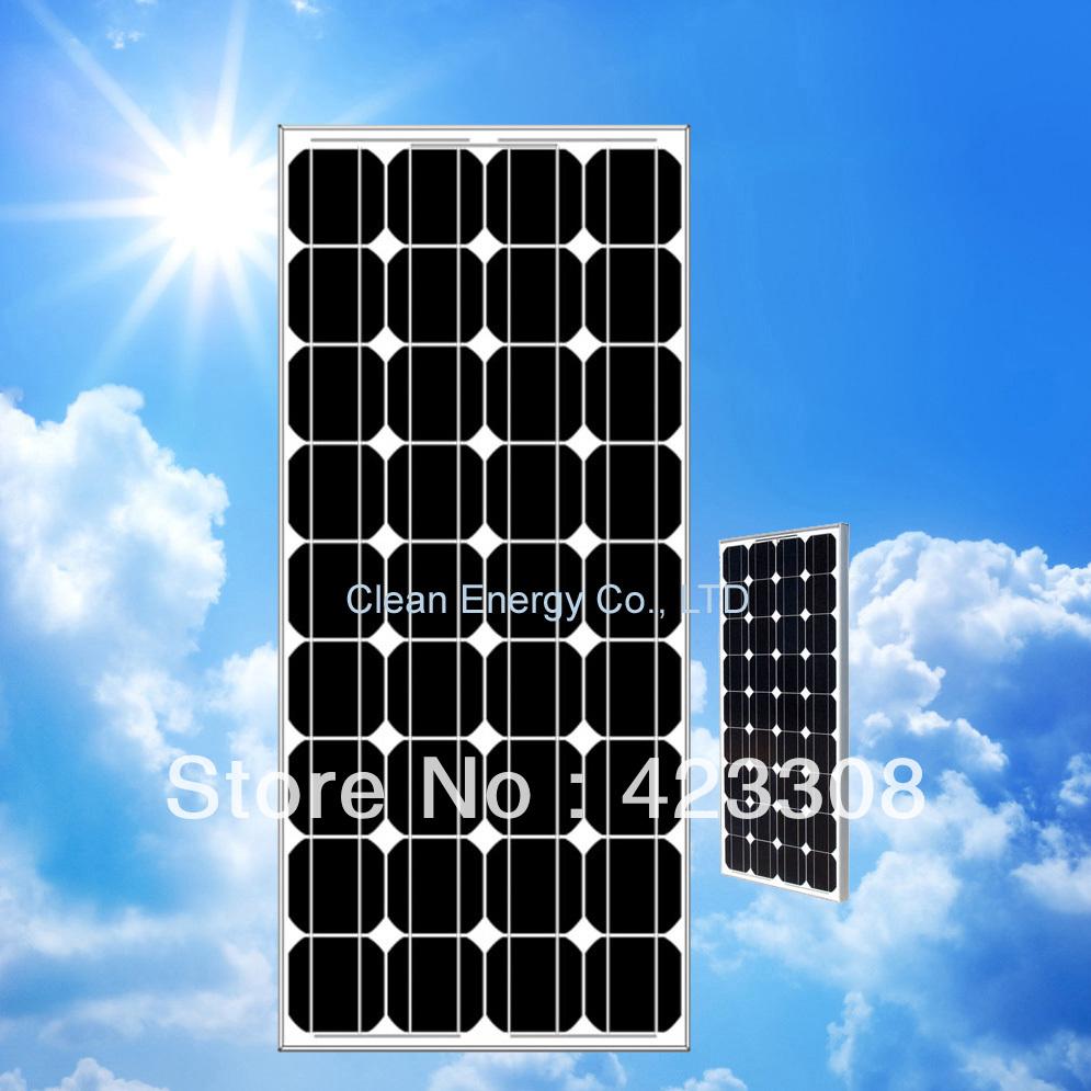 80W 18V Mono solar panel for 12V battery system(China (Mainland))