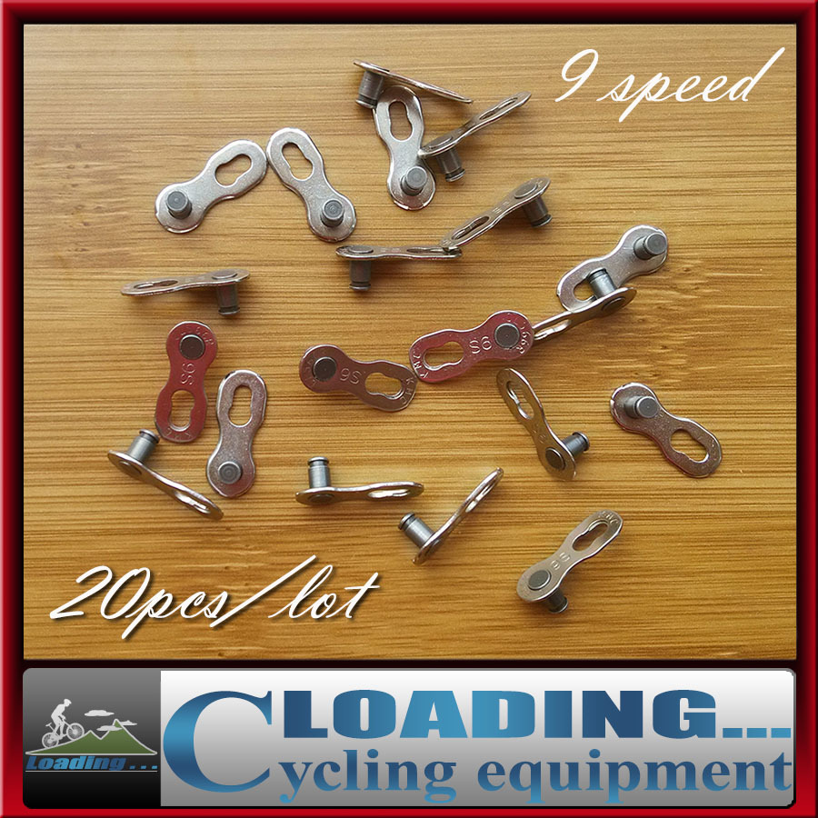 KMC 20pcs/lot 9 Speed Bike Chains Link Mountain Road Bike Bicycle Chain Connector Ciclismo Cycling Parts Long Trip Necessary(China (Mainland))