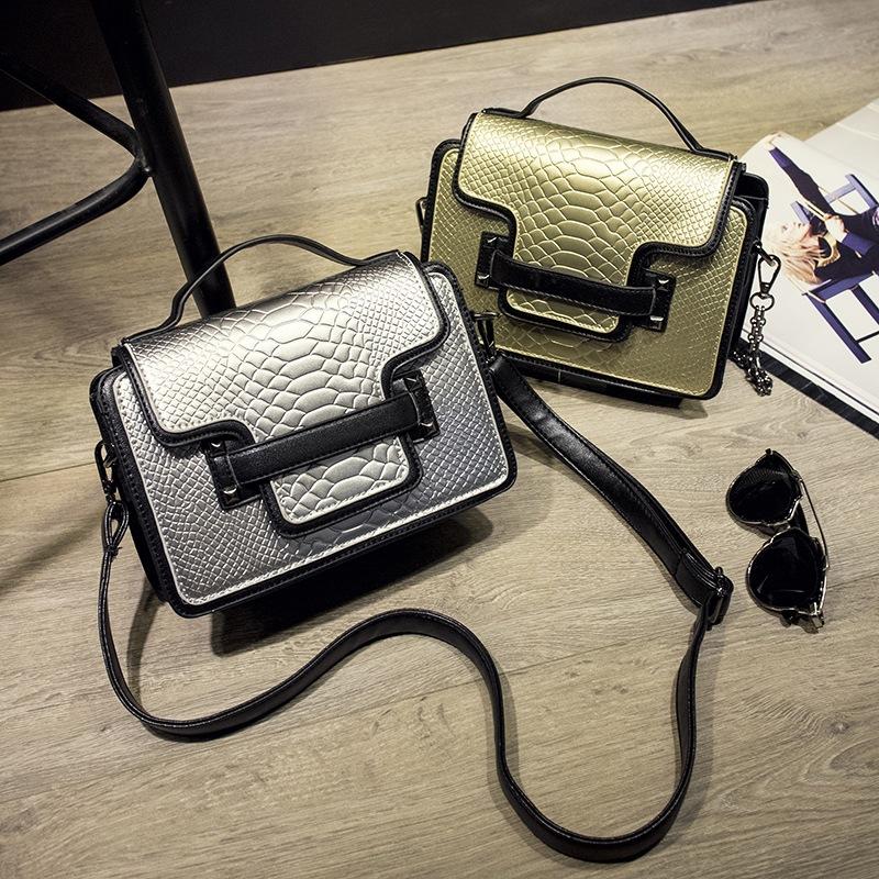 Women flap Crocodile Shoulder Bag snake skin Messenger Bags famous Designer Handbags best high quality(China (Mainland))