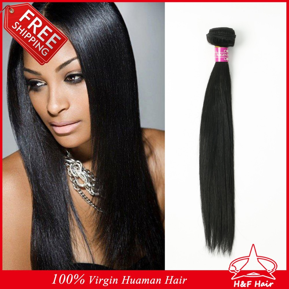 H&F Hair Wholesale Price 5A Unprocessed Peruvian Virgin Human Hair Weave 1pc/lot natural real straight human hair extensions(China (Mainland))