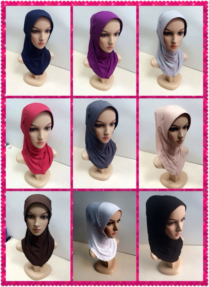 Muslim inner hijab fashion islamic plain hijab inner cap women modal cotton muslim short hijab shawls arab women scarf WL2464(China (Mainland))