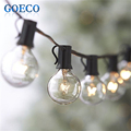 25Ft Clear Globe G40 String Light with 25 G40 Bulb Outdoor Decro Christmas Lights Patio String