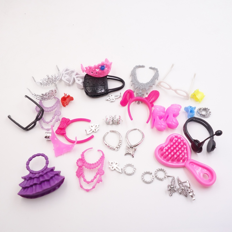 toys Accessories Bags Necklace Combs Shoes Earings for Barbies Doll Kids Gift good quality(China (Mainland))