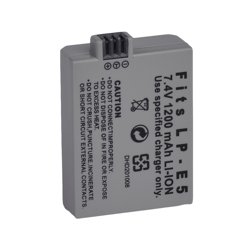 Digital Camera Battery LP-E5 LP E5 7.4V 1200mAh Rechargeable lithium ion Battery For Canon EOS 1000D 450D 500D(China (Mainland))