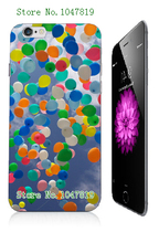 Mobile Phone Case Retail 1pc balloon Protective White Hard Case Cover For Iphone 6 6th Free Shipping