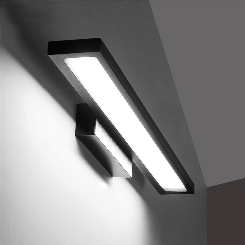 Waterproof modern 7W43CM/ 9W 53CM LED mirror lights fashion simple fog proof bathroom light fixtures cabinet wall lamp(China (Mainland))