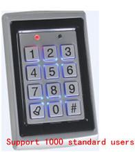 Rfid sistema de bloqueo de puerta soporte 1000 usuarios estándar Metal contraseña del teclado de tarjetas RFID puerta de acceso del controlador con el Manual de inglés(China (Mainland))