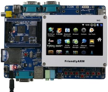 "F80B Tiny6410 + 4.3"" Touch Screen 533 MHz S3C6410 256M Memory + 2G Nand Flash Android2.3 ARM11 Learning Development Board"