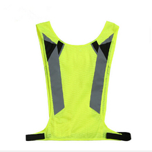 Fashion Breathable Evening outside yellow safety vest reflective clothing, high visibility reflective Belt Lime Neon article(China (Mainland))