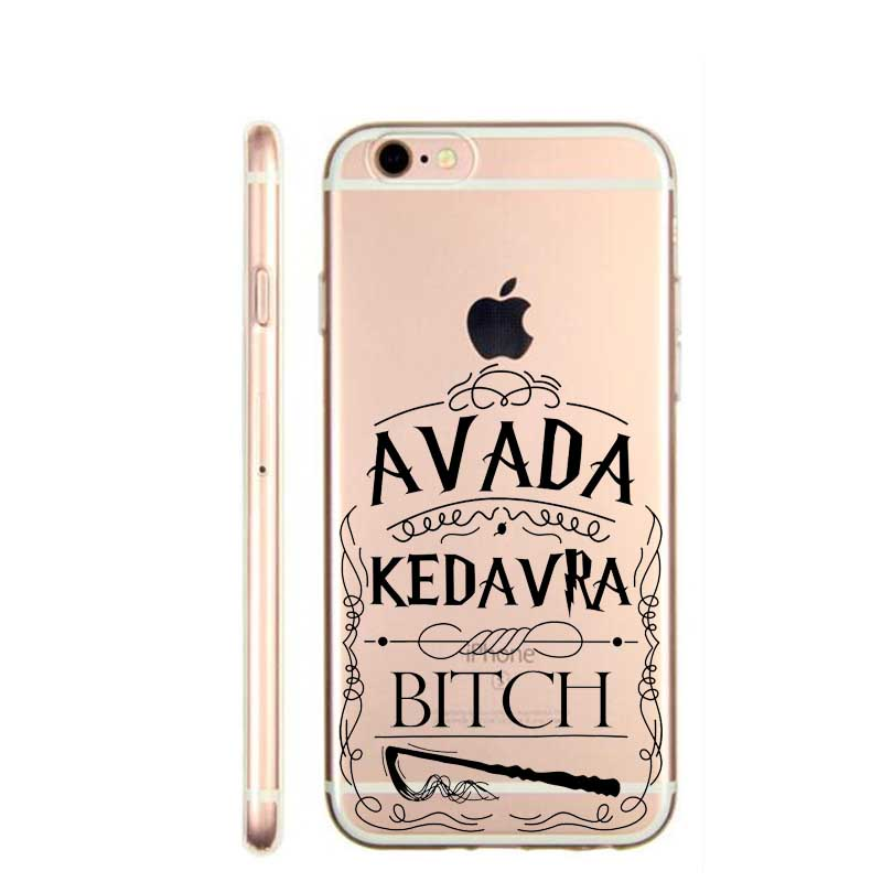 Avada Kedavra Bitch shirt for Harry Potter Design phone cover cases For Apple iphone SE 5 5S 6 6S 6Plus 7 7Plus soft TPU Case(China (Mainland))