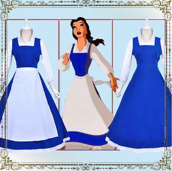 Beauty and The Beast Belle cosplay costume Halloween Custom madeОдежда и ак�е��уары<br><br><br>Aliexpress