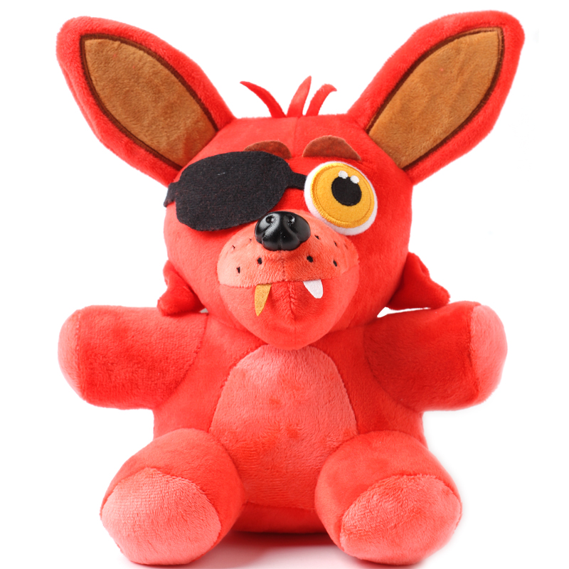 """Five Nights At Freddy's 4 FNAF Freddy Teddy Bear and fox stuffed animals Plush Toy Dolls 10"""" for baby kids christmas gift(China (Mainland))"""