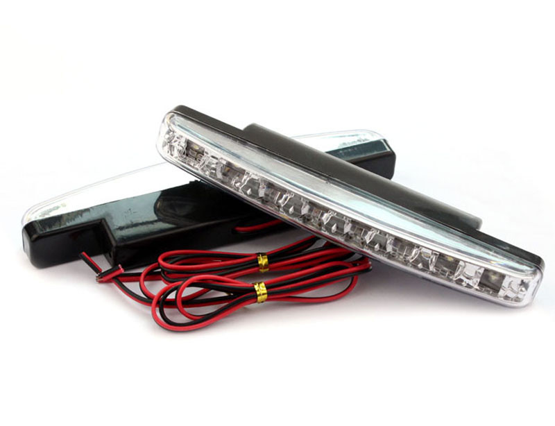 Sali 2015 New 8LED Daytime Driving Running Light DRL Car Fog Lamp Waterproof White DC 12V Free shipping&Hotsale(China (Mainland))