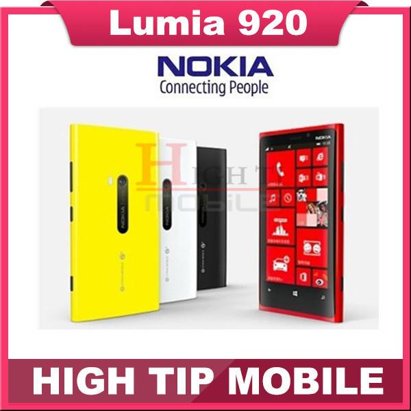 "Nokia Lumia 920 Original Unlocked Windows Mobile Phone Dual core 32GB 8.7MP 3G GPS WIFI 4.5"" Touchscreen Refurbished(China (Mainland))"