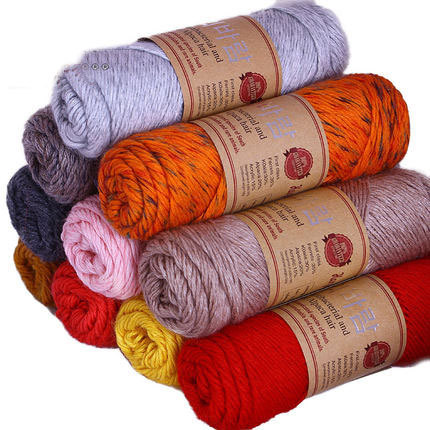 Wool Yran Skein Thick Yarn For Knitting Fingering Crochet Wool Yarn ...