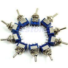5pcs 3-Pin SPDT ON-ON Mini Toggle Switch 6A 125VAC Mini Switches