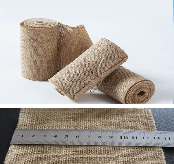 Burlap Decorative Flowerswreaths RibbonSize Width 120MM And 10 Meter LongPaking Opp Bag Quantity 10m PackUse For Craft Flower