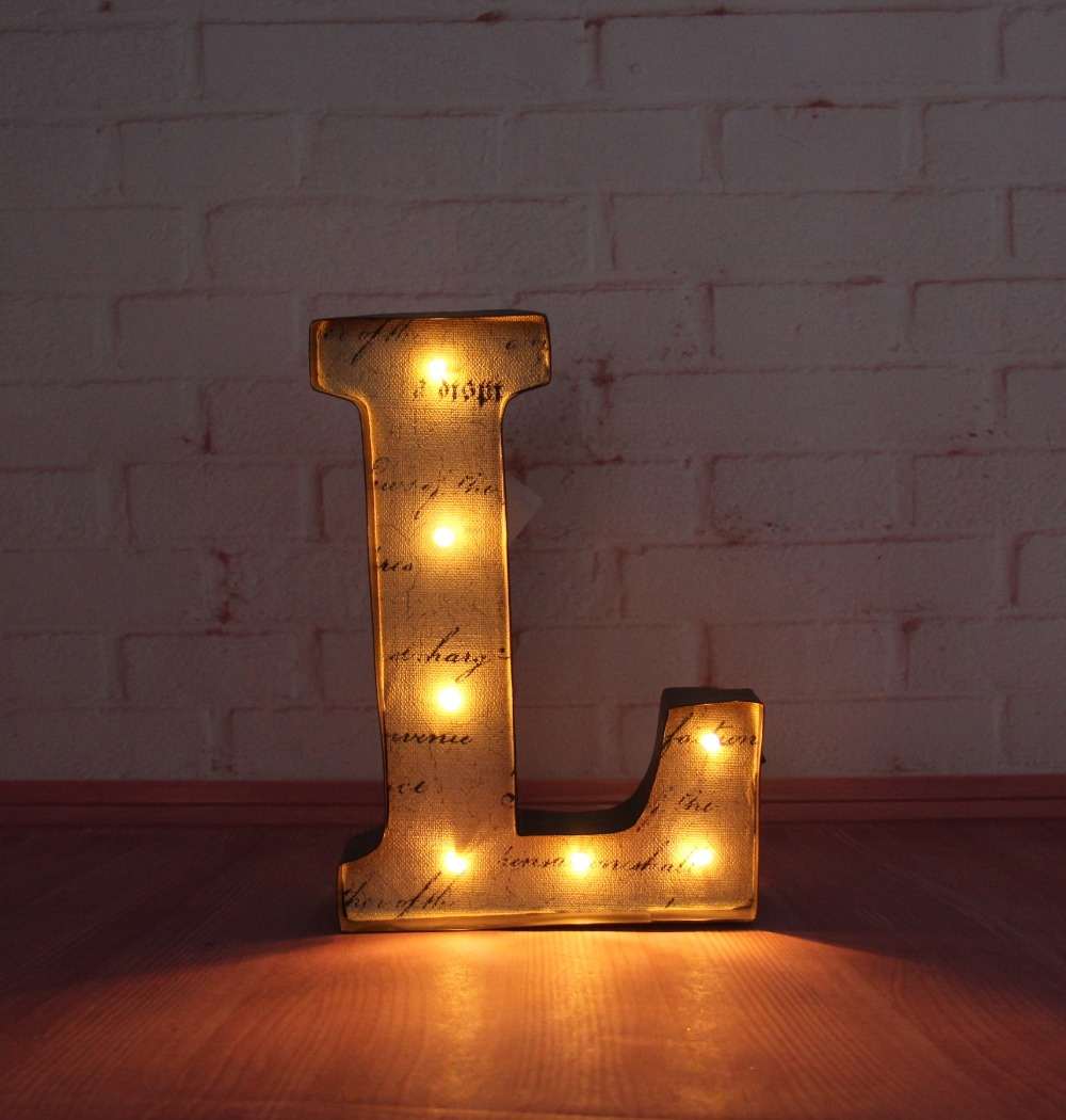 Metal Wall Light Letters : 9