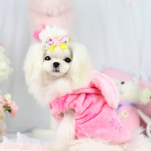 Buy Cute big ear Dog puppy rabbit costume clothing winter warm small dog pet cat cotton padded Coat jacket clothes Chihuahua for $7.88 in AliExpress store