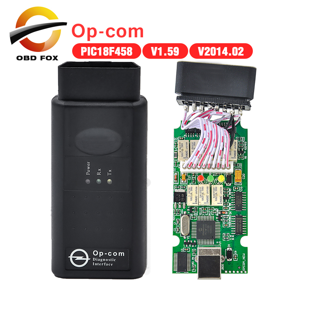 2016 opcom OP com v2014.2 auto diagostic tool Opel op-com V1.59 PIC chip - OBD FOX TECH Co.,Ltd store