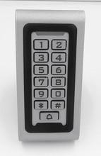 125 khz EM carte et 2000 mot de passe Bule rétroéclairage RS485 métal clavier de contrôle d'accès RFID étanche clavier avec lecteur de carte(China (Mainland))