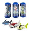 RC Remote Control Shark Pocket toys mini plastic fish toys coke can radio remote control Shark